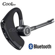 COOLJIER V8S Business Bluetooth Headset Car Handsfree Wireless bluetooth Earphone with Mic for iPhone Xiaomi Samsung