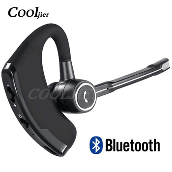 COOLJIER V8S Business Bluetooth Headset Car Bluetooth Handsfree Wireless bluetooth Earphone with Mic for iPhone Xiaomi Samsung