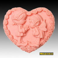 Silica Gel Mould Handmade Soap Candle DIY Heart Shaped Girl And Boy For Wedding For New