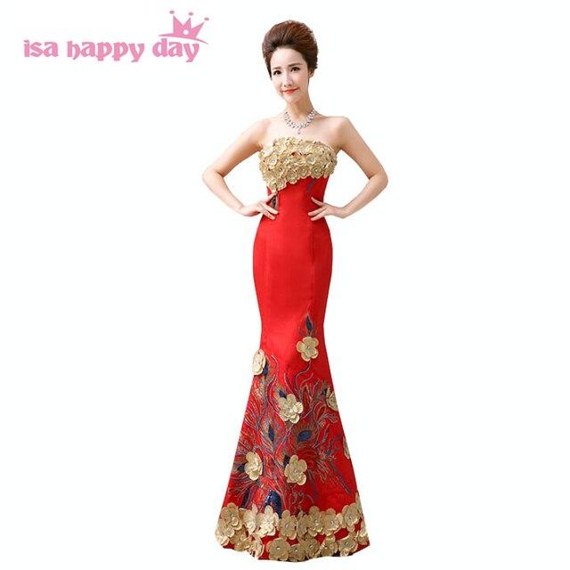 6a54860e8 المرأة الأحمر حمالة العروس فستان سهرة طويل خاص بمناسبة الطابق طول فساتين  فستان سهرة 2019 مهرجان