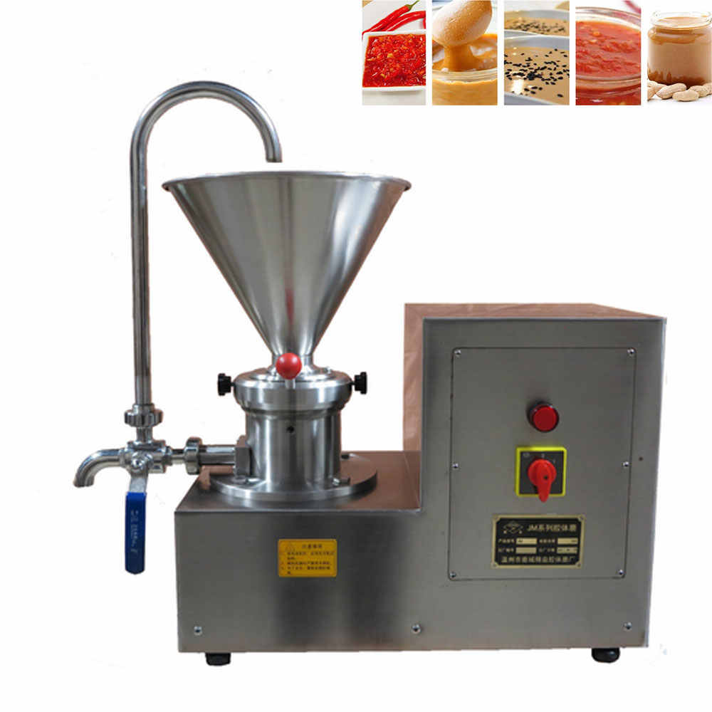 Business Machinery Chili Sauce Colloid Mill Peanut Butter Coffee Machine Sesame Grinder Mustard Paste Nut Butter Making Machine