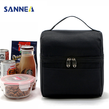 SANNEN 5L Lunch Bags Cooler Thermal Bag Women Men Lunchbox Lady Portable Handbag Children Kids Food Bags Insulation marmita Red Сумка