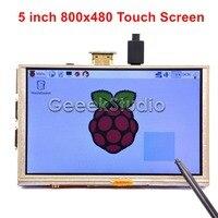 5 Inch 800x480 HDMI TFT LCD Touch Screen For Raspberry PI 3 2 Model B B