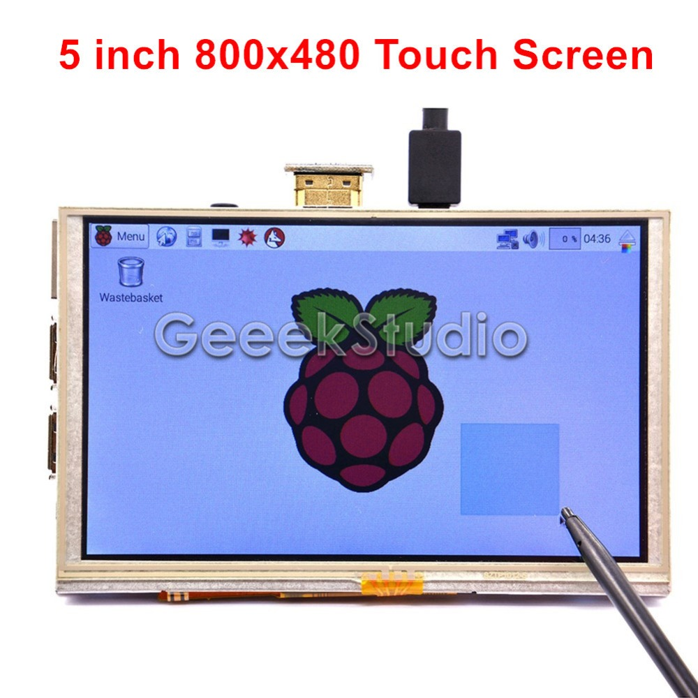 5 Inch HDMI TFT LCD 800*480 Touch Screen for Raspberry PI 3 / 2 Model B / B+ / A+ / B