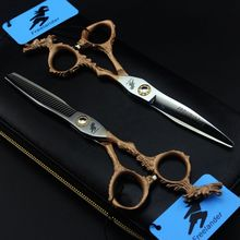 Professional 6 inch Hair Scissors Cutting Barber Makas Scissor Salon Scisors Thinning Shears Hairdressing