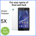5PCS X Free shipping matte screen protector for Sony Xperia Z3 front and back anti-glare protective film with retail package