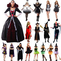 Witch Costume Devil Angel Clothing Adult Halloween Carnival Costumes Fantasia Fancy Dress Party Supplies