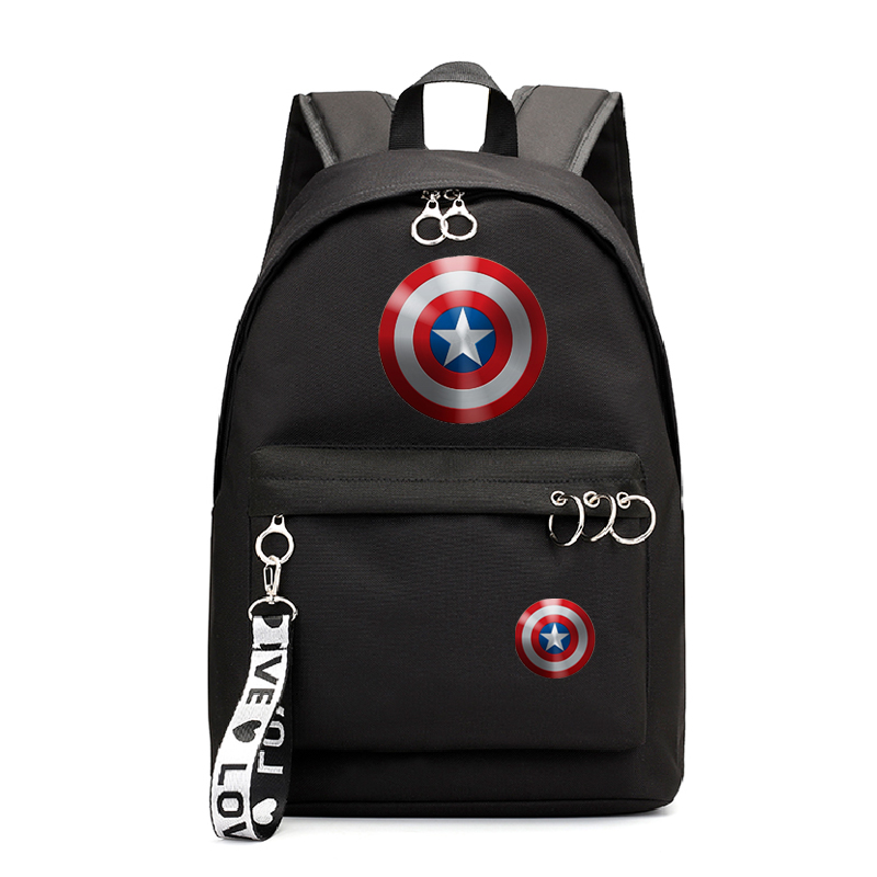 Captain America Girl Backpack for School Backpacks College Book Bag Students Laptop Backpack Casual Rucksack Travel Bags Satchel image