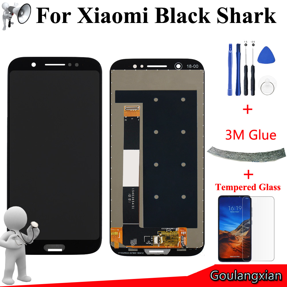 5.99 AAA Quality LCD For Xiaomi Black Shark LCD Display Touch Screen Digitizer Assembly For Xiaomi BlackShark SKR-A0 LCD Tools5.99 AAA Quality LCD For Xiaomi Black Shark LCD Display Touch Screen Digitizer Assembly For Xiaomi BlackShark SKR-A0 LCD Tools