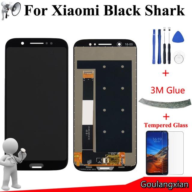 5.99 Için AAA Kalite LCD Xiaomi Siyah Köpekbalığı LCD ekran dokunmatik ekranlı sayısallaştırıcı grup Xiaomi BlackShark SKR A0 LCD Araçları