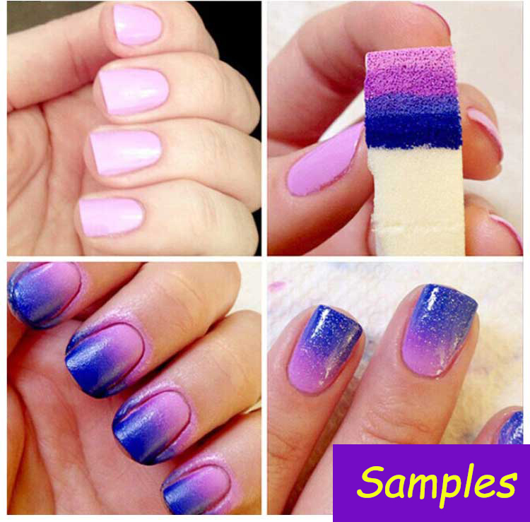 Gift 8pcs Gradient Nails Soft Sponge Color Fade Natural Magic Simple ...