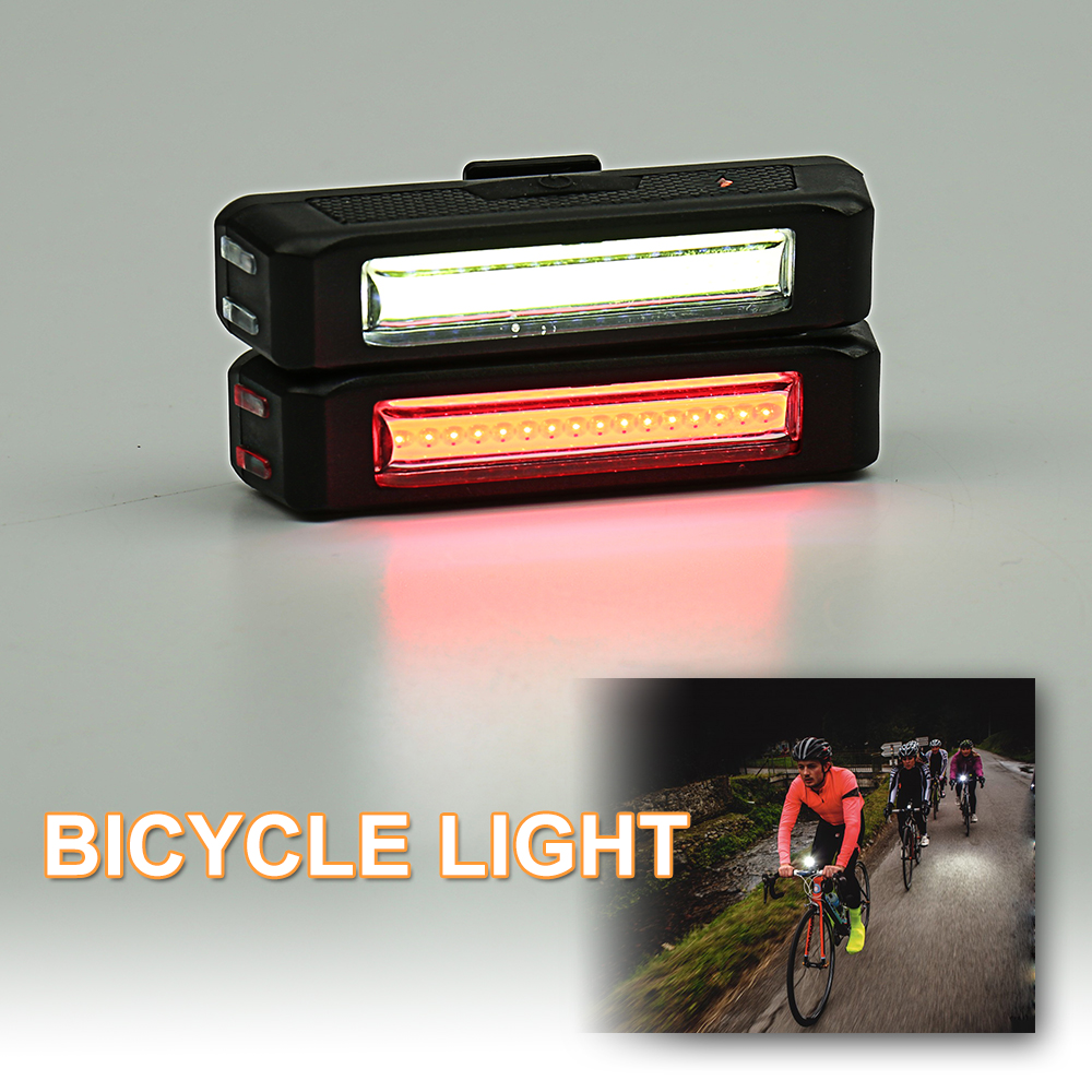 COB BICYCLE LIGHT Supper Bright: 1W COB bicycle light Light mode : COB 20%-50%-100%-50%Flash-100%Flash-SOS ABS +PC + rubbe