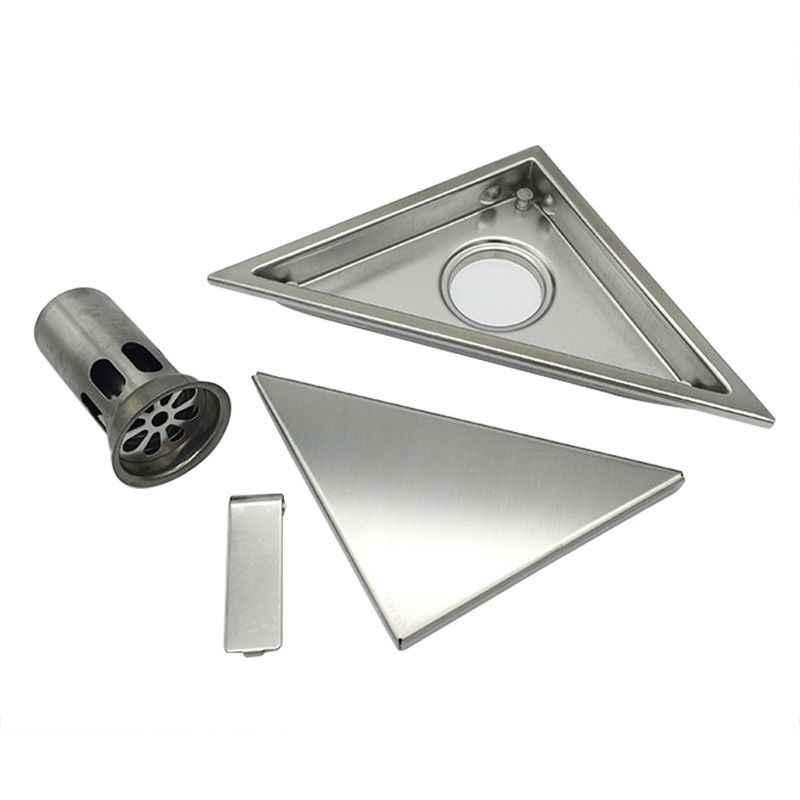 حديثا المخفية نوع مثلث بلاط إدراج الطابق النفايات شبكات دش استنزاف SUS304 مصفاة بالوعة من الفولاذ المقاوم للصدأ اكسسوارات الحمام