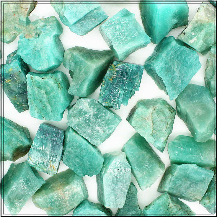 1 4lb Natural Raw Amazonite Crystal Stone Mineral Rough