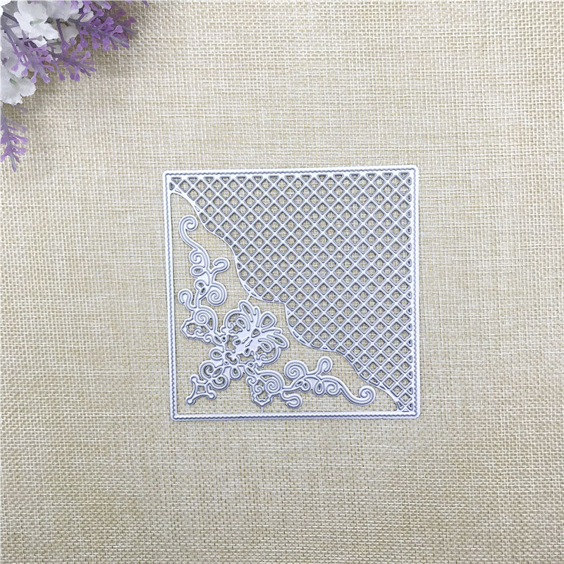 Julyarts Flower Grid Metal Cutting Die Stencil Troqueles De Corte Scrapbooking Card Making Crafts Cut