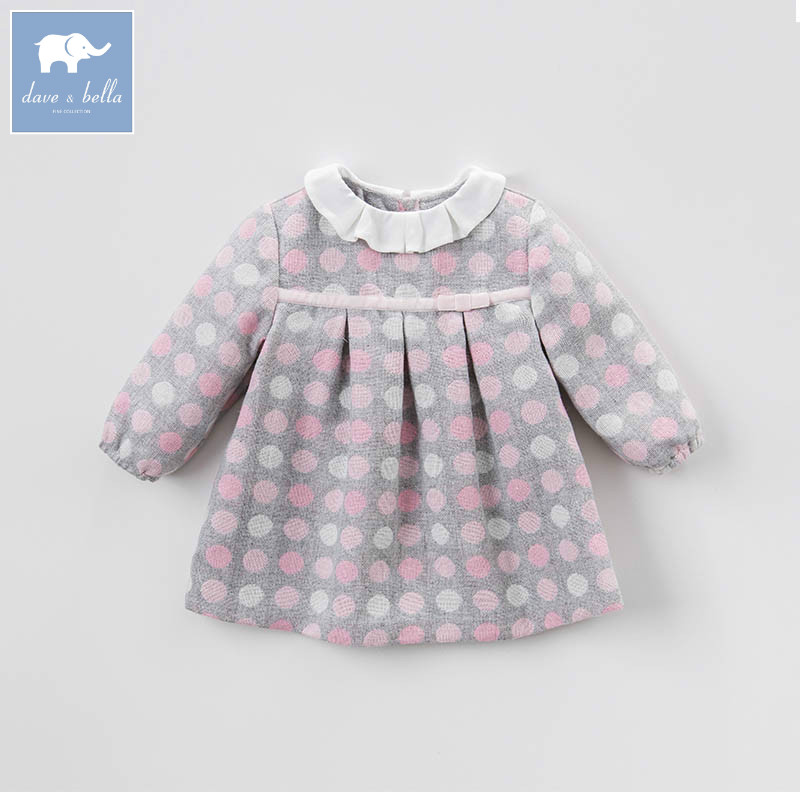 DB7182 dave bella infant baby girl's princess dress fashion color dots dress toddler children clothes сумка allrounder m dots