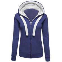 Женская толстовка теплая зима и осень модное пальто на молнии Одежда для девочек одежда с завязками женские пальто WS126Y