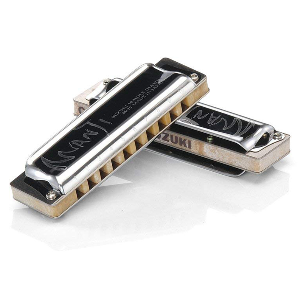 Suzuki M20 Manji Diatonic Harmonica 10 Holes 20 Notes Blues Harp Key Of C D Professional