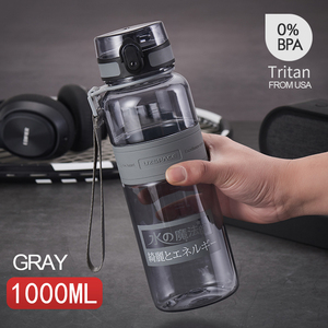 Image 2 - Water Bottles 500/1000ml BPA Free Shaker Outdoor Sport Tour Drink Bottle Portable Leakproof Ecofriendly Plastic Fruit Tea Bottle