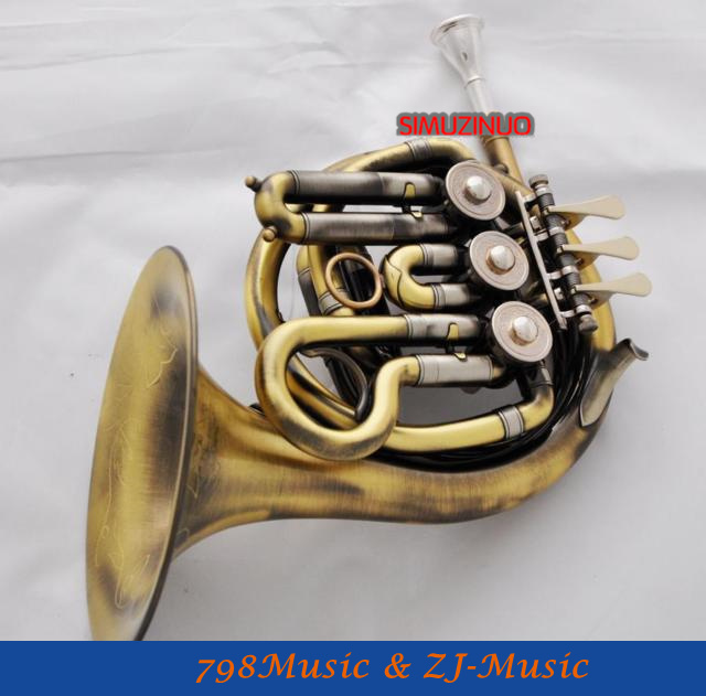 Antique Brass Piccolo Mini French Horn New B-Flat Pocket horn With Case vincenzo piccolo туфли