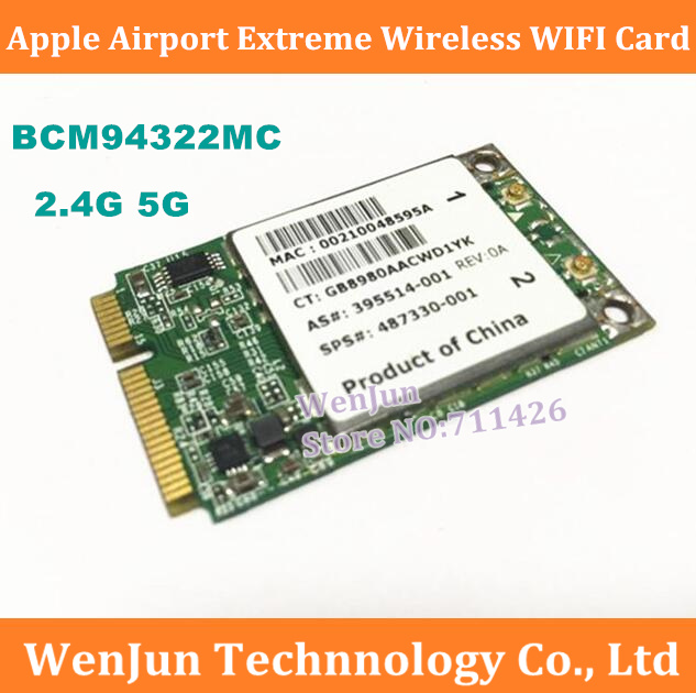 1PCS- For Apple Airport Extreme BCM94322MC Wireless WIFI Card For All Mac Pro 2006-2012 image
