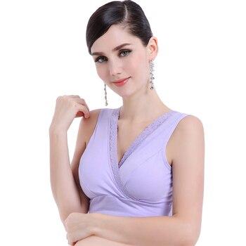 Edredón mujer alimentación embarazada maternidad sujetador lactancia alambre libre elástico suave lactancia Bralette para mujeres embarazadas