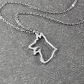 German Shepherd  necklace, German Shepherd   pendant, animal necklace ,alloy dog necklace ,  pet memorial gift , dog pendant