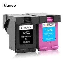 TIANSE 2pk para cartucho de tinta de repuesto HP123 XL para HP DESKJET 1111/1112/2130/2131/2132 /3630