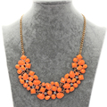 Exaggerated Statement Pendants Necklaces Women Crystal Gold Chain Neon Orange Choker Collares Collier Femme Foulard