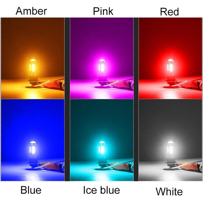 luzes nevoeiro do carro luzes diurnas branco vermelho azul âmbar