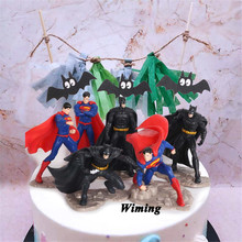 batman birthday cake topper party gifts toys for children kids boys baby adult super heroes superman cupcake toppers