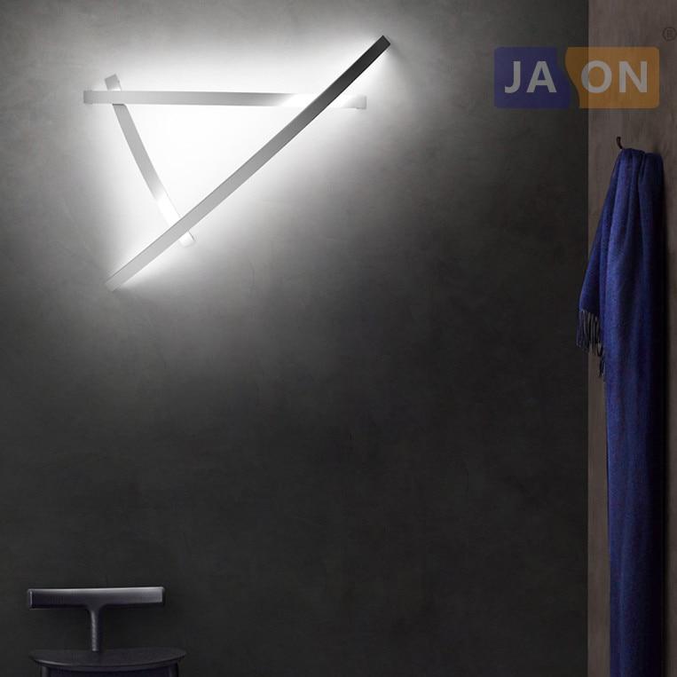 Aliexpress Led Wall Light: LED Modern Geometric Iron Acryl Black White LED Lamp LED