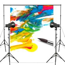 5x7ft Colorful Ink Painting Photography Backdrop Brush Background Art Photo Studio