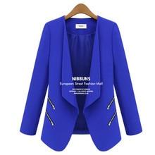 Women Blazer Feminino 2018 Spring Personalized Zipper Pocket Ladies Blazer Office Lady Jacket Veste Blazer Femme Blouson Femme