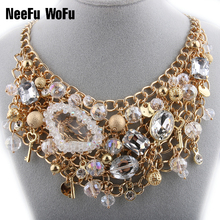 Choker Necklaces Big Rhinestones Necklace For Women Charm Crystal Wrapped Chain Brand Jewelry Colar Christmas Gift Necklace