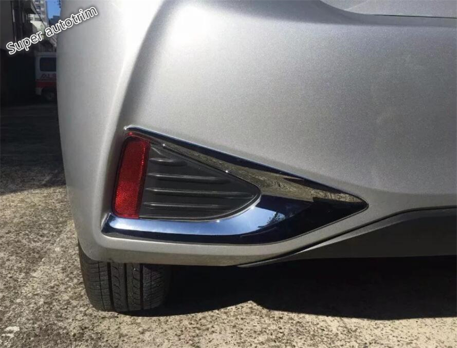 Lapetus Bright Style Rear Fog Lights Lamp Frame Cover Accessories Exterior Trim 2 Piece Fit For Toyota YARIS VITZ 2018 2019 in Chromium Styling from Automobiles Motorcycles