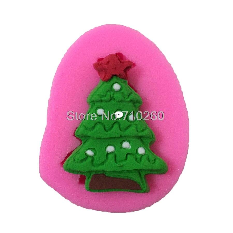 ᐂx064 Navidad Arbol Forma Pastel De Chocolate Molde De Silicona