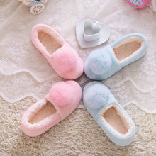 2016 new style pink/blue cartoon Charm slippers for women's warm plush indoor at home shoes for ladies