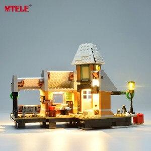 Image 4 - Набор светодиодсветильник ильников MTELE для зимней деревенской станции, набор светильников, совместимый с серии Creator 10259 (модель в комплект не входит)