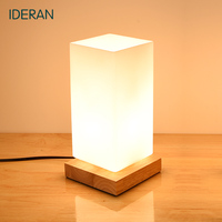 IDERAN Creative Small Size Original Wooden Table Light Dimmable Switch Mini Table Lamp Home Decoration Lighting