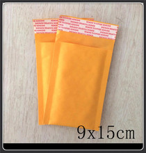 "Wholesale 100pcs 9X15cm 3.5""x5.9"" Small Manufacturer Kraft bags bubble mailers padded envelopes paper mailer MAILING bag"