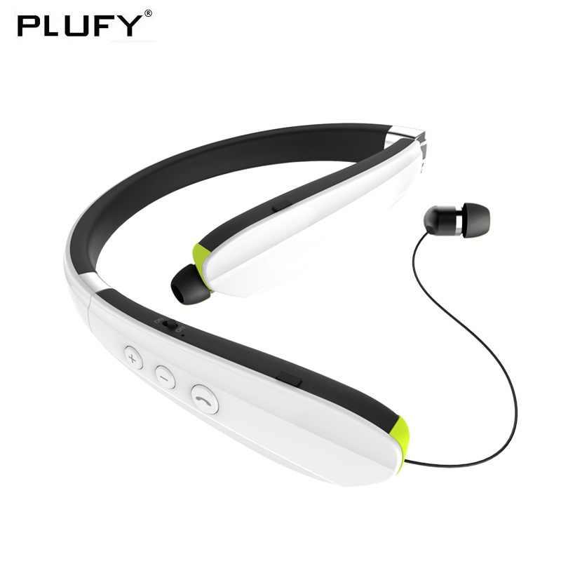 PLUFY sportowe słuchawki bluetooth bezprzewodowe słuchawki z mikrofonem z pałąkiem na kark zestaw słuchawkowy Stereo, bieganie, Fitness, Auriculares Inalambrico