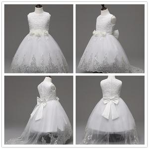 Image 5 - 2017 Yüksek kaliteli prenses elbise kız düğün mezuniyet elbisesi mor çocuk çiçek elbise vestido de festa infantil menina