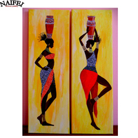 2pcs Set Diamond Embroidery 5D DIY Diamond Painting African Woman 3d Diamond Painting Cross Stitch Rhinestone