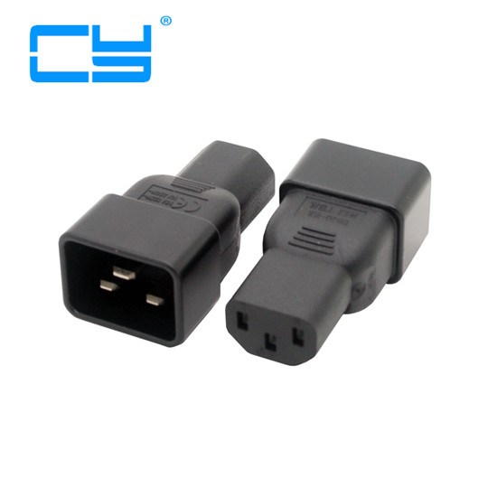 цены 5PCS/lot  IEC320 Female C13 to Male C20 Power Mains Extension Adapter for PDU UPS 10A to 16A