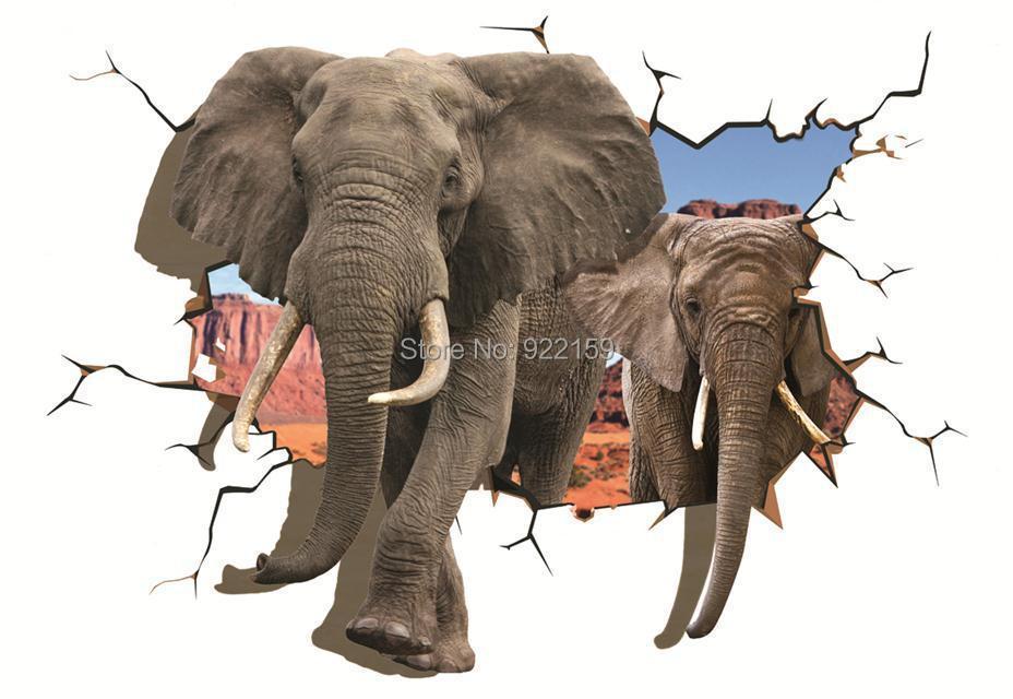 Gajah Dicetak 3d Lukisan Minyak Di Dinding Kanvas Seni Hewan Poster