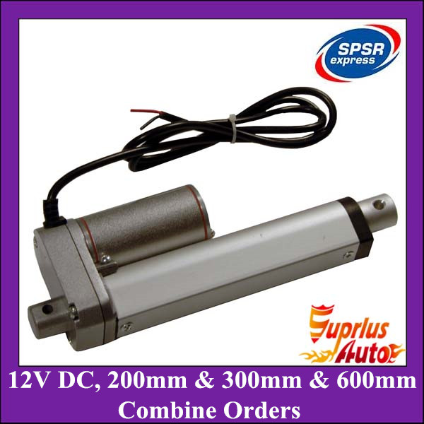Free Shipping Combine Orders Including 200mm-200N (3pcs), 300mm-500N (3pcs), 600mm-900N (2pcs) Stroke 12V DC Linear Actuators