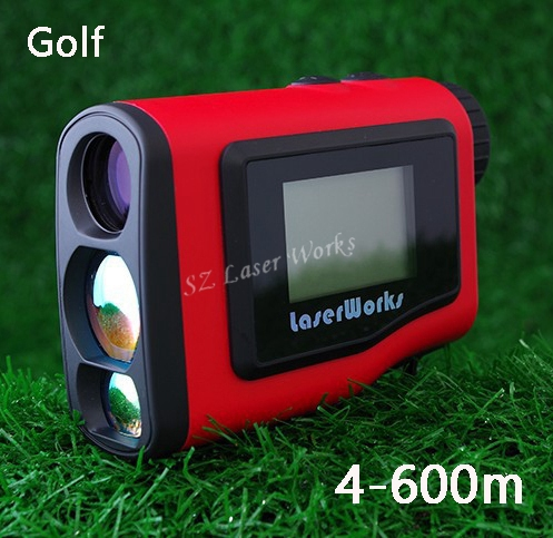 2016 Monocular Angle of Elevation 600M Laser Golf Rangefinder Laser Angle Finder with angle and Slope Function For Golf  Sport simulation mini golf course display toy set with golf club ball flag
