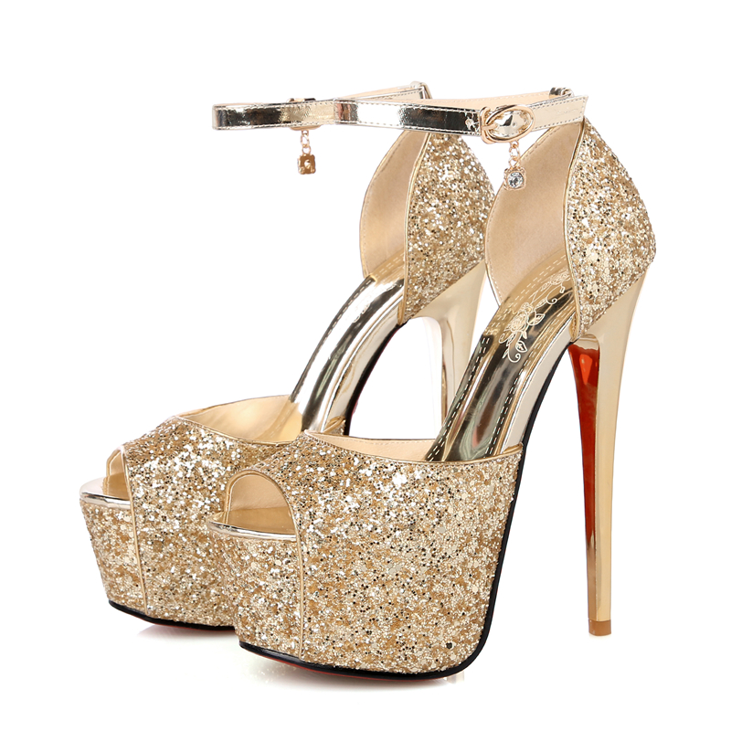 ... DoraTasia Grandes Tailles 33-42 plus couleurs personnaliser Marque  D été Femmes Chaussures Femme Talons hauts Plate-Forme du Parti De Mariage  Sandales ... c5eafeed2687