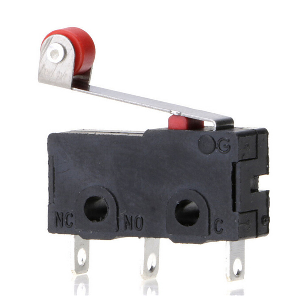 5pcs/set New Micro Roller Lever Arm Open Close Limit Switch Kw12-3 Pcb Microswitch Tool Parts Wholesale Tools